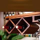 BinLZ Weinregale Europa Amerika Massivholz Hochregal aus Glas, Das auf Den Kopf Gestellt Wird, um Jeden Raum zu Vervollständigen, 100 cm * 28 cm