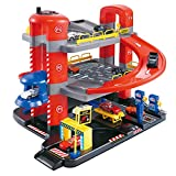 3-stöckige Garage , Garagenspielzeug dimensional Dreidimensionales Hochregal-Parkhaus-Set , 3-lagig zusammengebautes Waggonspielzeug